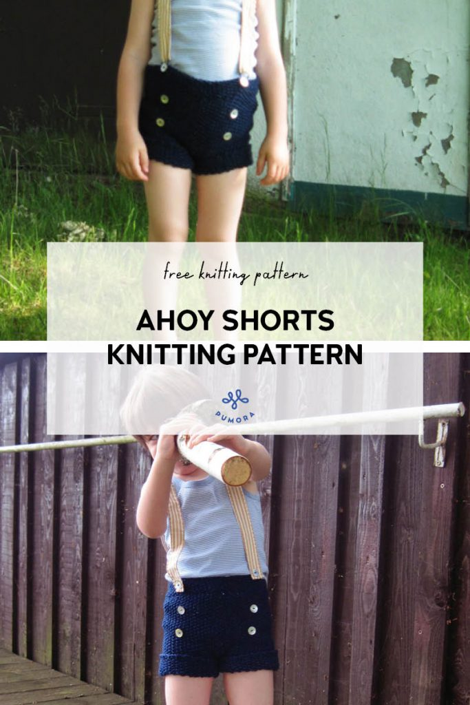 ahoy shorts free knitting pattern