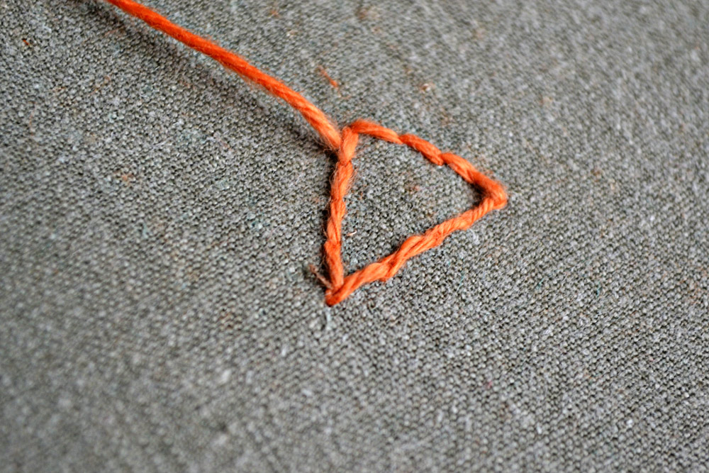 How to embroider the satin stitch