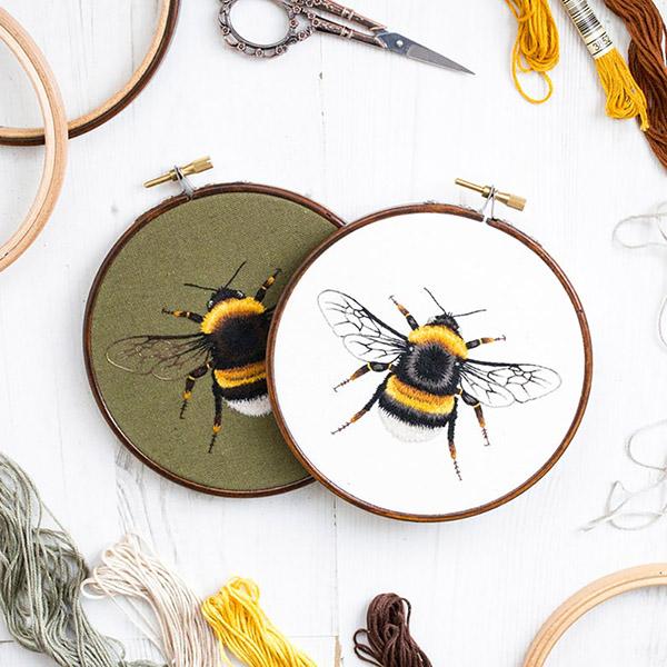 bumblebee needlepainting pattern by Emillie Ferris