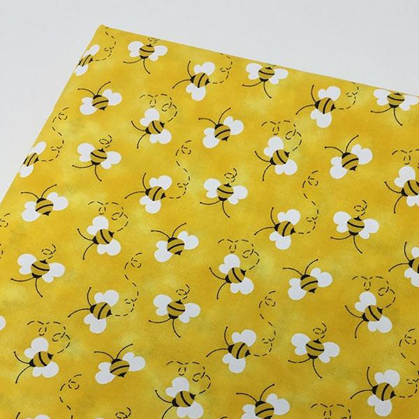 yellow bee fabric by swkfabrics