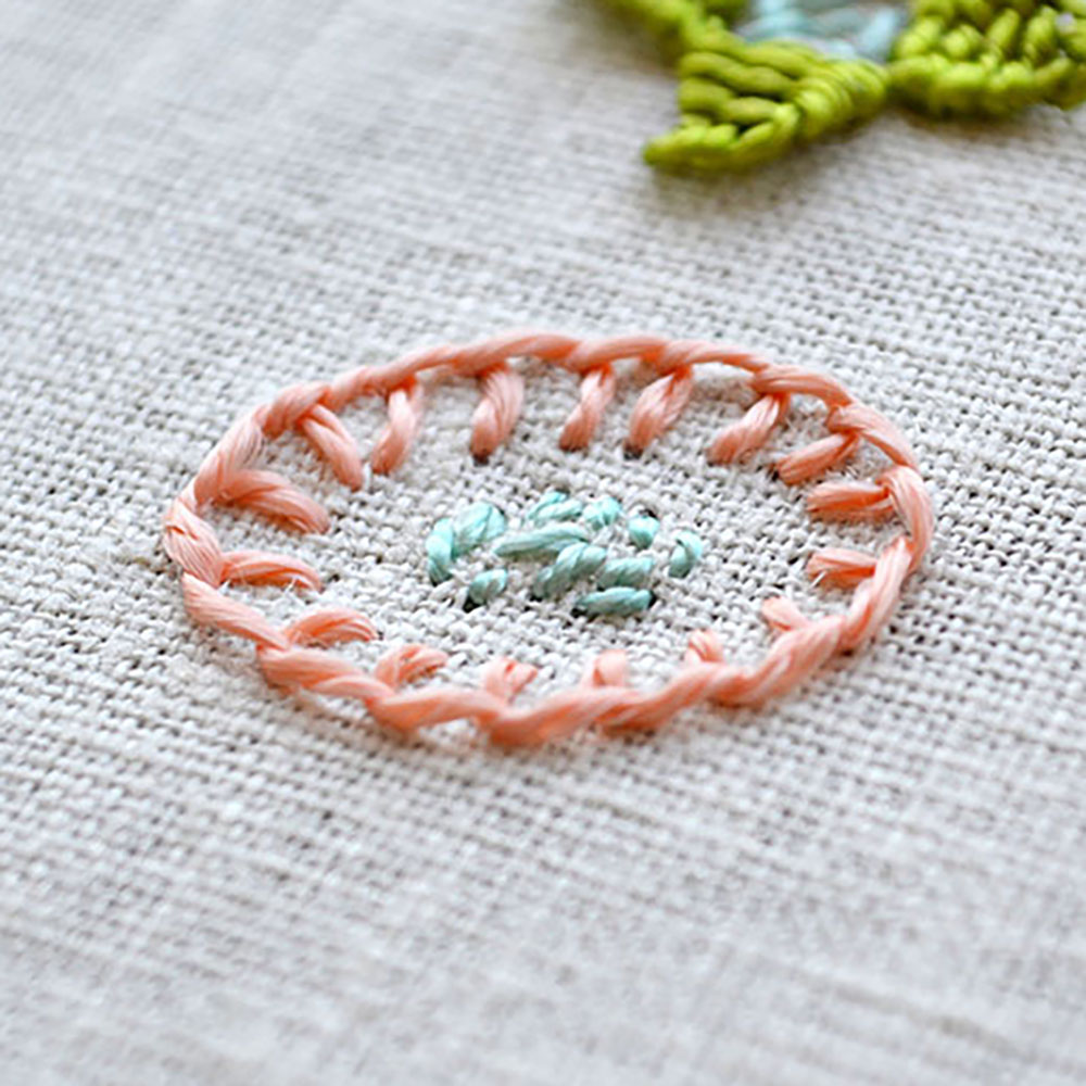 how to embroider blanket stitch flowers