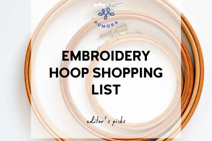 embroidery hoop shopping list