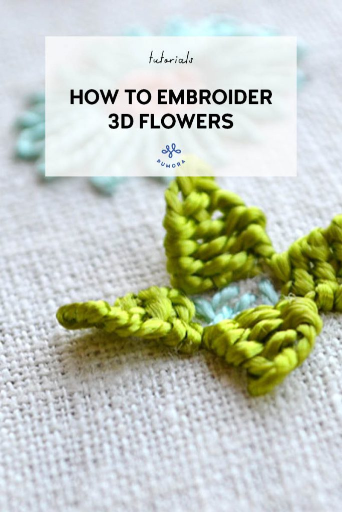 how to embroider 3d flowers
