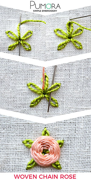 woven flower embroidery tutorial