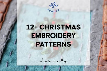 12+ Christmas embroidery patterns