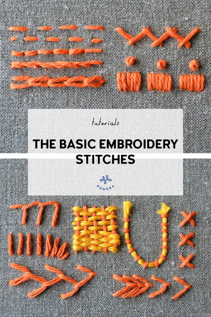 learn the basic embroidery stitches