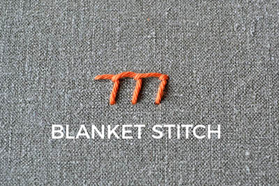 how to embroider the blanket stitch