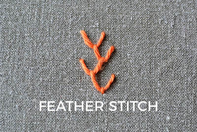 how to embroider the feather stitch