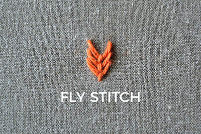 how to embroider the fly stitch