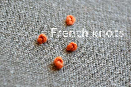 how to embroider the french knot