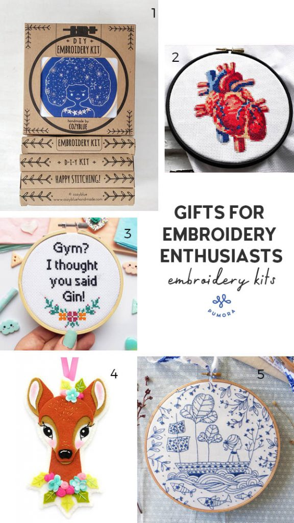 gift guide for embroidery enthusiasts - embroidery kits