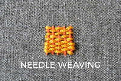 How to do needle weaving