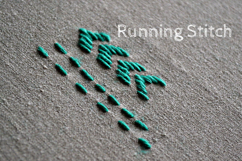 how to embroider the running stitch
