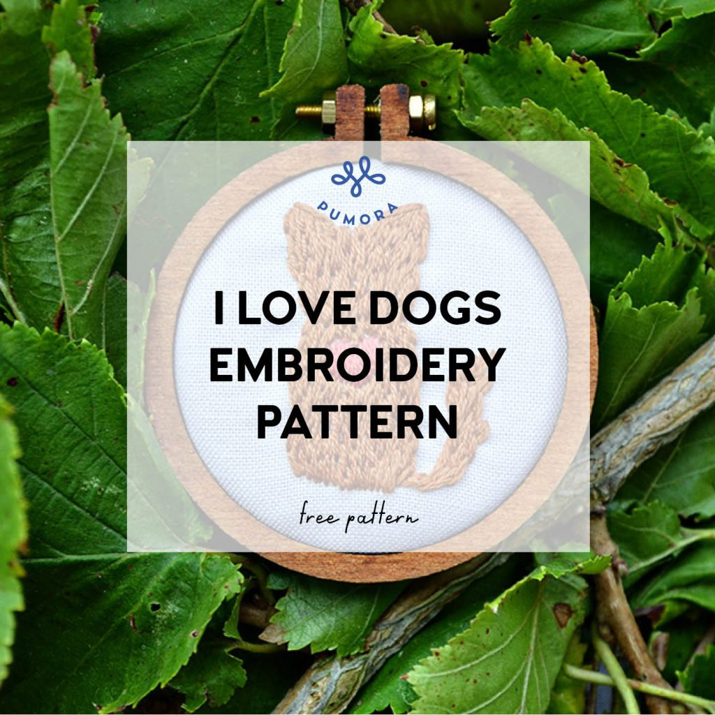 i love dogs free embroidery pattern2