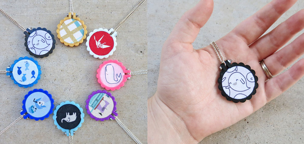 6 mini embroidery hoop shops