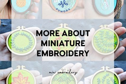 more about miniature embroidery
