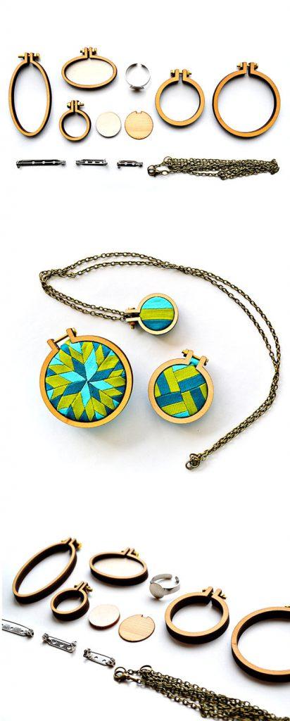 dandelyne mini hoop with pattern