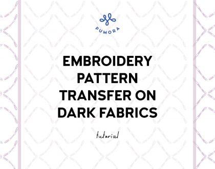Pattern transfer on dark fabrics with transfer paper