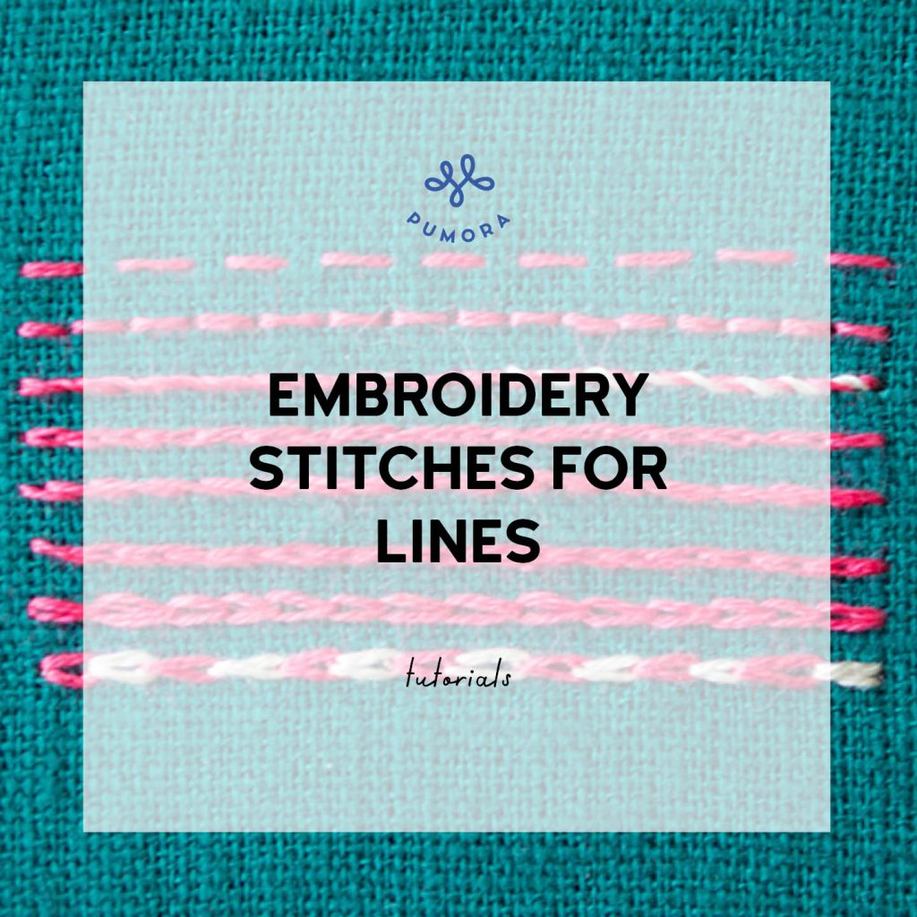 embroidery stitches for lines