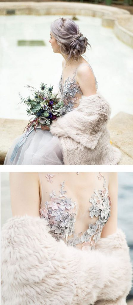 embroidered details on wedding dress by PolaLab