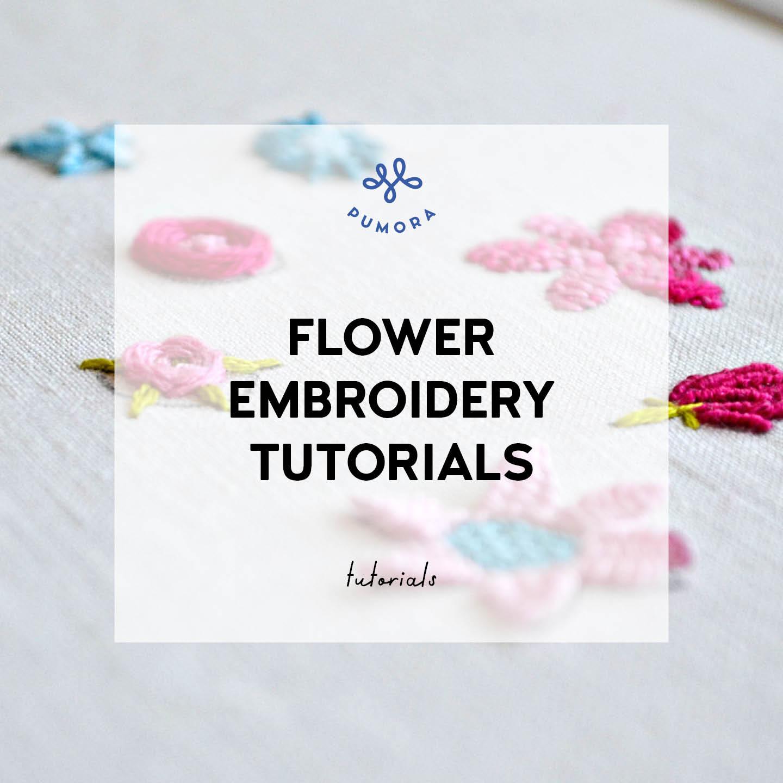 bloom flower embroidery tutorials