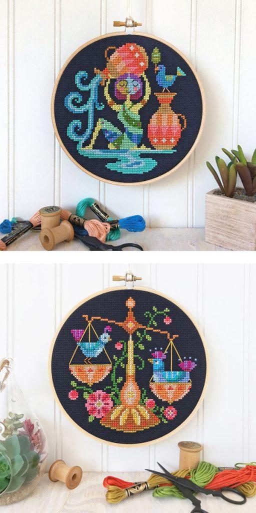 satsuma street cross stitch pattern zodiac 1