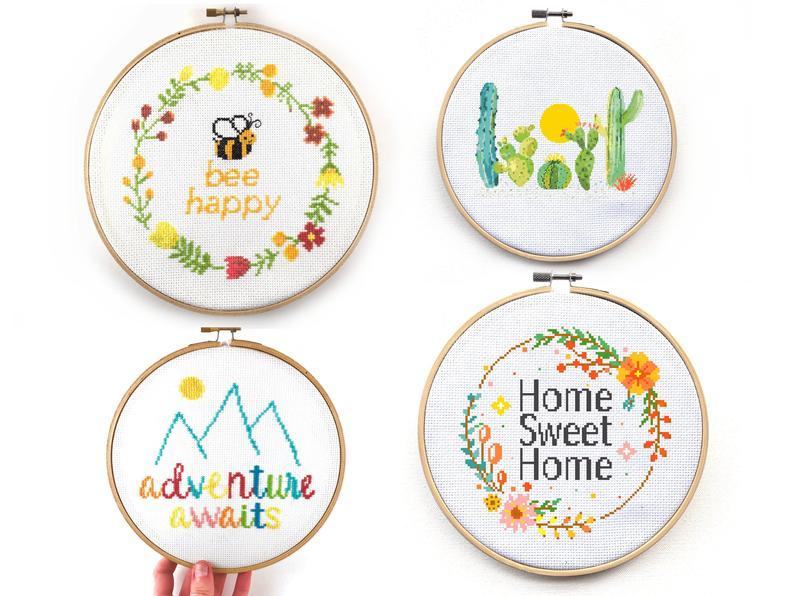 cross stitch pattern bundle by Leia Patterns