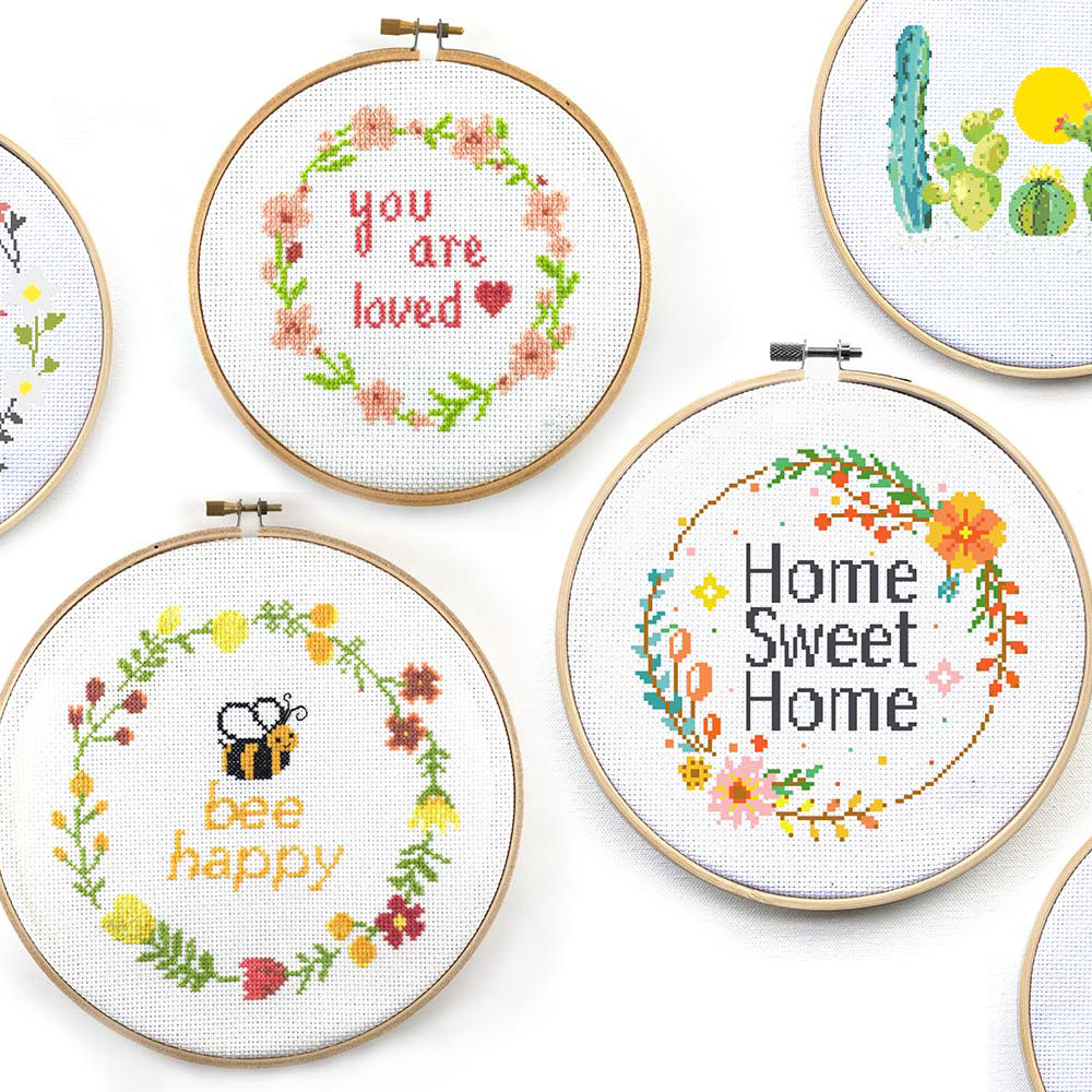 happy modern cross stitch patterns - leia patterns interview