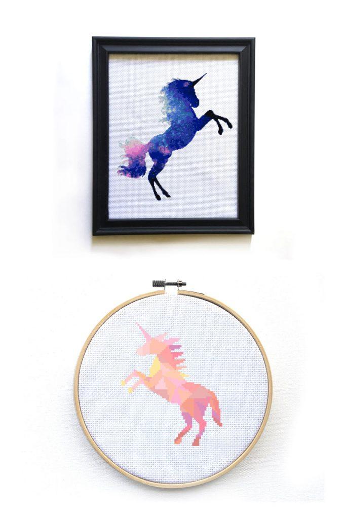happy unicorn cross stitch patterns - leia patterns interview