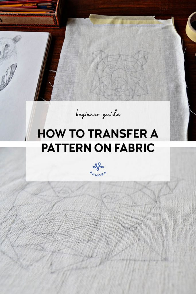 how to transfer embroidery patterns on fabric