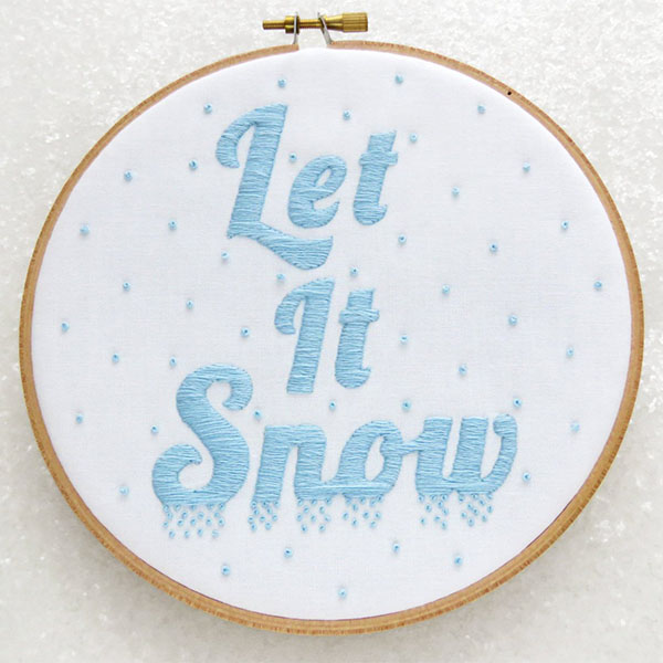 oh sew bootiful let it snow embroidery pattern
