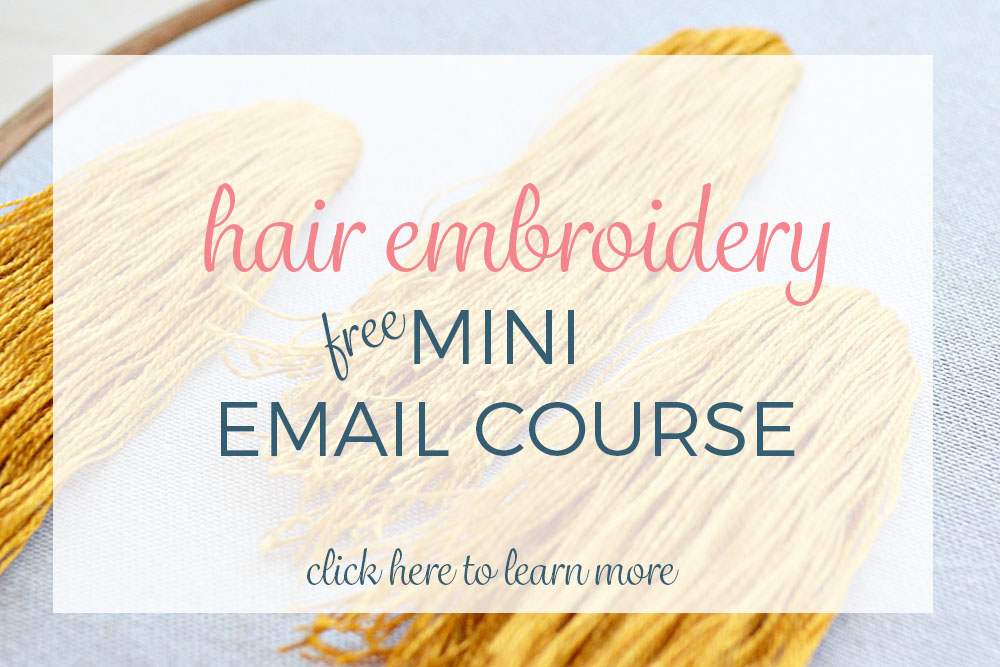 hair embroidery mini course 2v