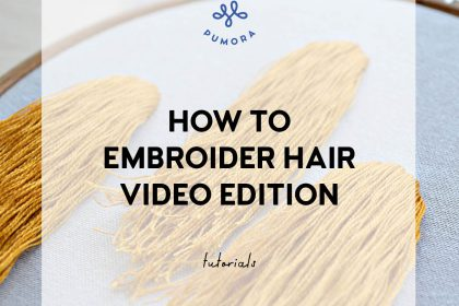 how to embroider hair video tutorials