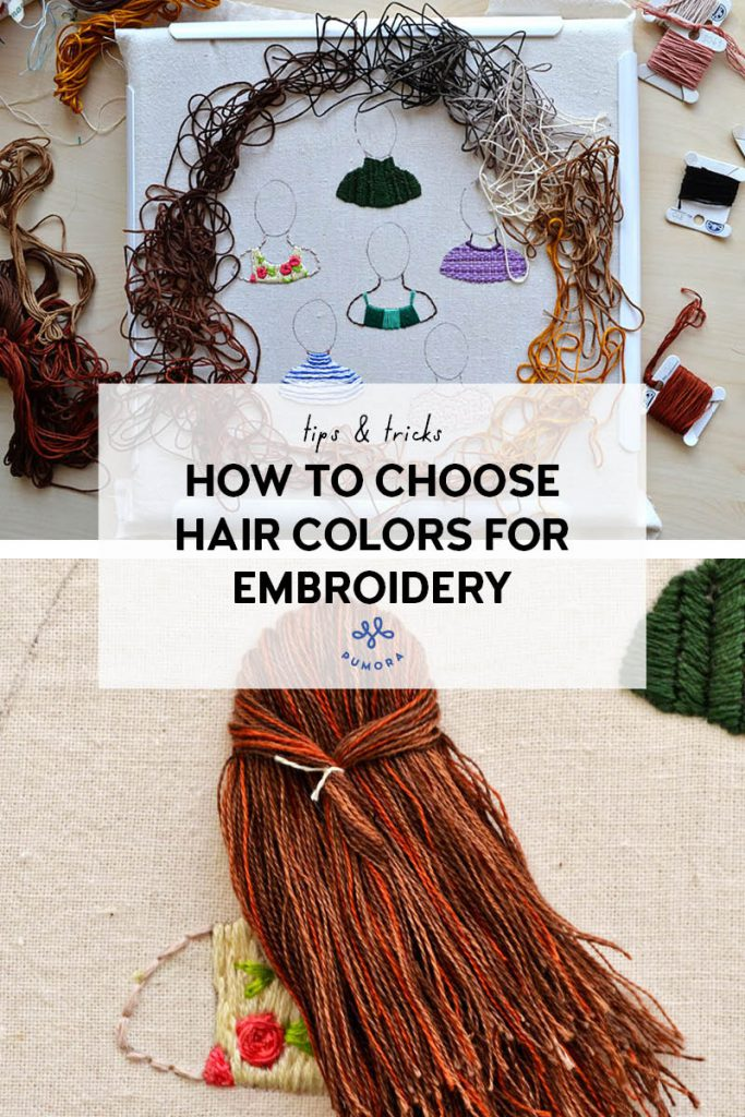 how to choose hair colors for embroidery