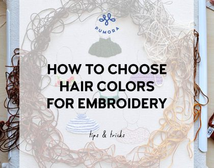 How to choose the right colors for hair embroidery
