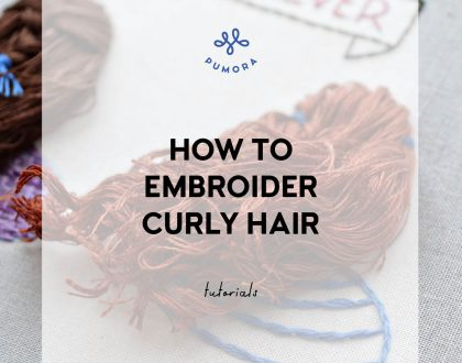 How to embroider curly hair