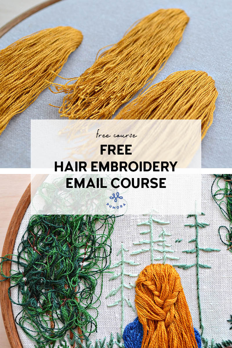 free hair embroidery email course