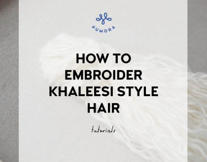 How to embroider Khaleesi style hair