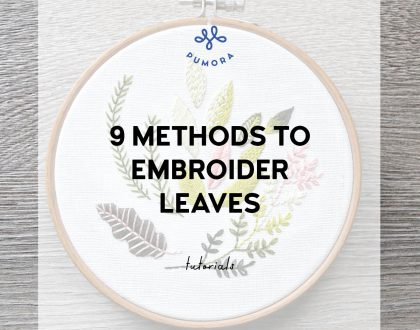 9 methods of leaf embroidery