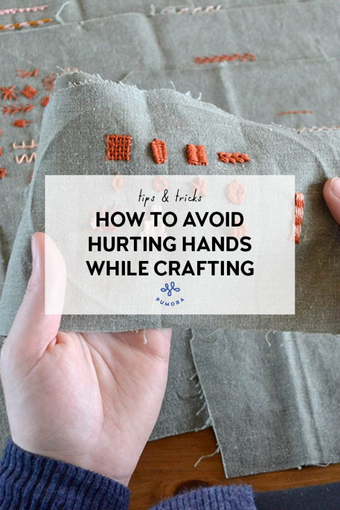 how to avoid hurting hands while crafting