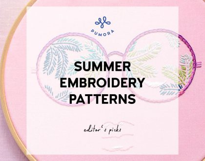 Summer embroidery patterns – for the beach vibes in your home