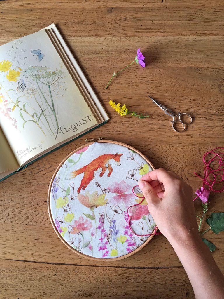 bumpkin Hill Embroidery fox kit