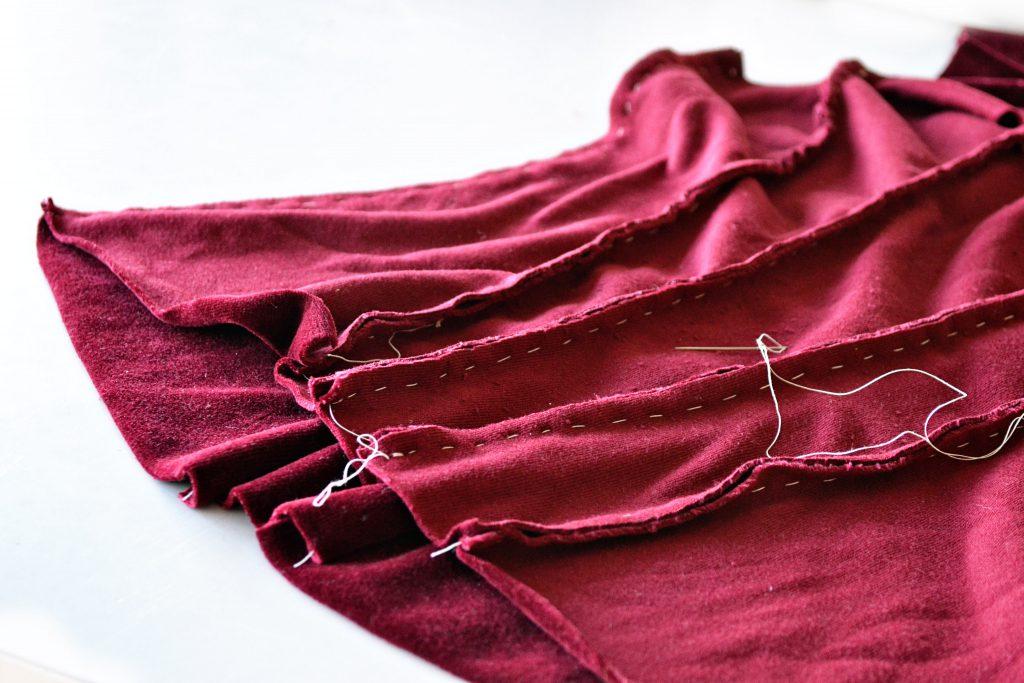 alabama chanin corset in velvet