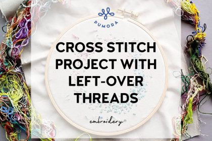 cross stitch project with left-over threads2