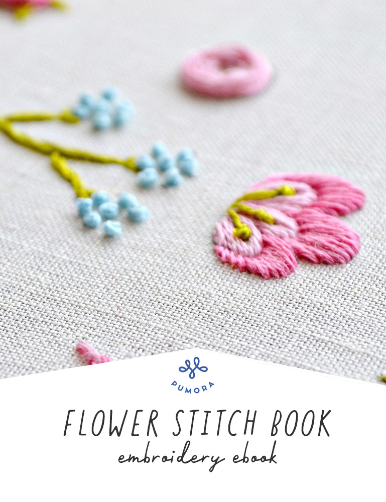 flower embroidery stitch book