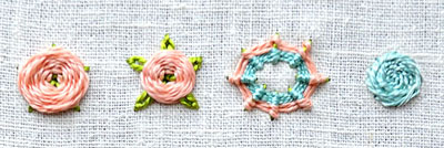 How to embroider round flowers