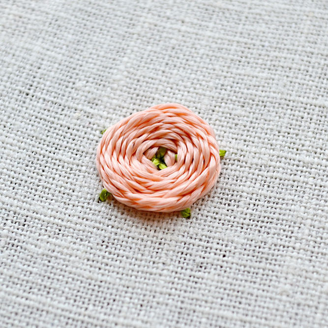 how to embroider woven flowers