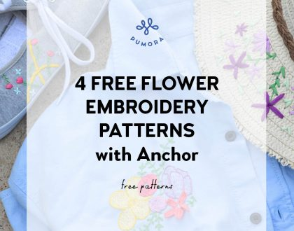 Free flower embroidery patterns – with Anchor