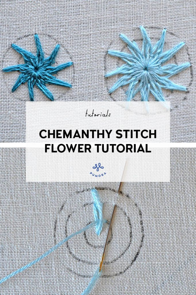 Chemanthy stitch flower embroidery tutorial