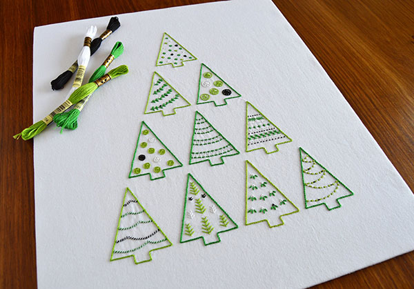 KFNeedlework tree embroidery pattern
